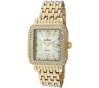 Peugeot Women's Goldtone MOP-Dial Bracelet Watch - J344585