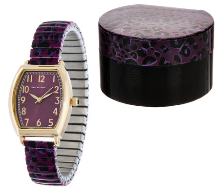Isaac Mizrahi Live! Leopard Print Expansion Watch