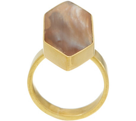"""As Is"" Soko Trapezoid Horn Ring"