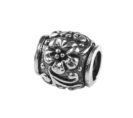 Prerogatives Sterling Floral and Scroll Bead