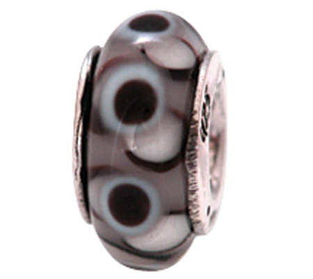 Prerogatives Sterling Black Glass Bead