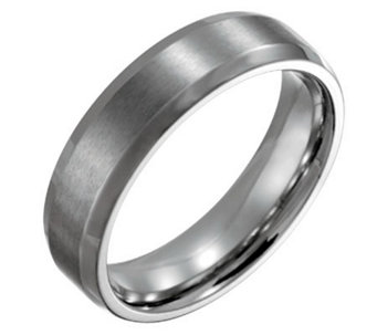 Forza Men's 6mm Steel w/ Beveled Edge BrushedPolished Ring - J109486