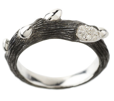 Dweck Diamonds Sterling Fortuna Single Branch Ring