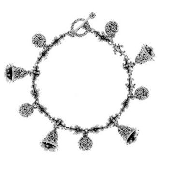 Novica Bells & Chimes Sterling Charm Bracelet, 34.5g