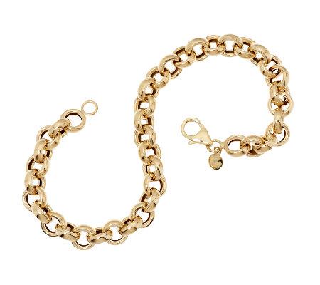 """EternaGold 7 1 4"""" Polished Rolo Link Bracelet 14K Gold 3 8g"""