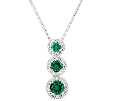 Epiphany Diamonique Simulated Gemstone Pendant w/Chain