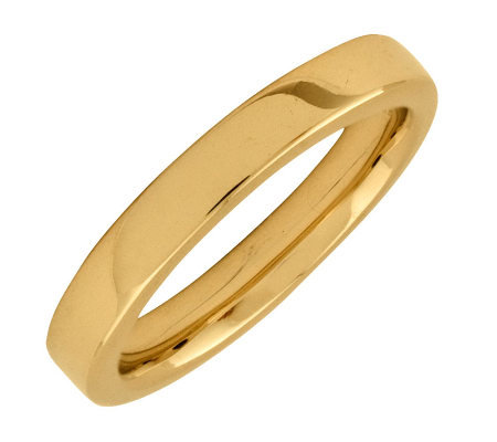 Simply Stacks Sterling 18K YellowGold-Plated 3.25mm SmoothRing
