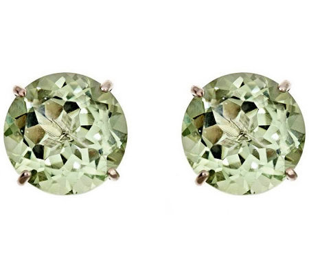 Sterling Round 8.00 cttw Quartz Gemstone Stud Earrings