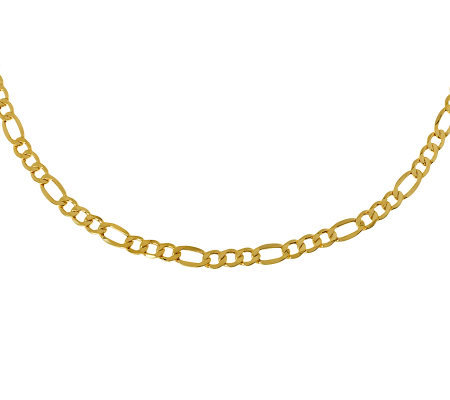 "Milor 24"" Polished Figaro Necklace, 14K Gold 10.0g"
