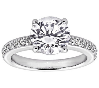 Diamonique 2.25 cttw Solitaire Ring, Platinum Clad - J309786