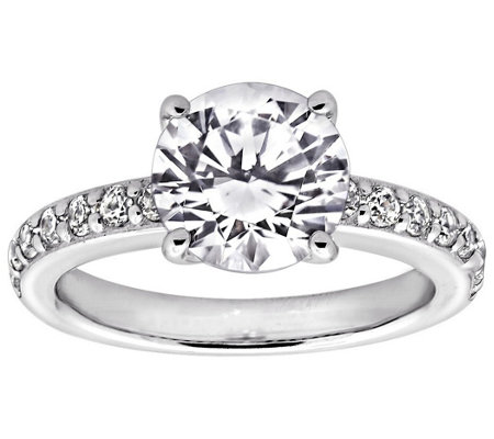 Diamonique 2.25 cttw Solitaire Ring, Platinum Clad