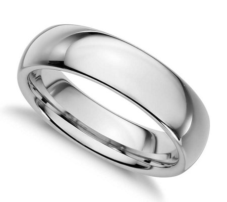 Sterling Silver 5MM Silk Fit Unisex Wedding B and Ring
