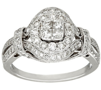 Michael Beaudry 1.00 cttw Diamond Round Halo Ring, 14K Gold - J322586