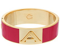 C. Wonder Enamel Initial Oval Hinged Bangle with Magnetic Clasp - J328886