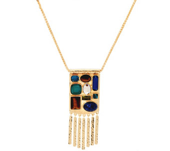 "C. Wonder 30"" Wheat Chain Multi-Stone Station Necklace - J331286"