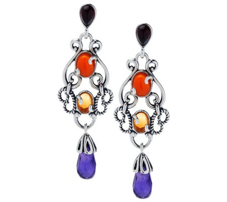 """As Is"" Carolyn Pollack Sincerely Fabulous Sterl. Earrings"