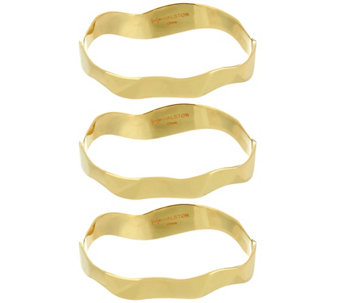 """As Is"" H by Halston Set of 3 Sculptural Bangles - J333986"