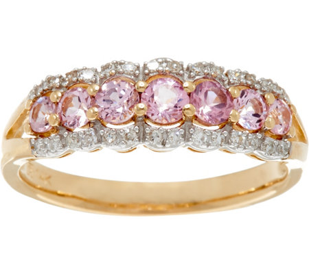 Baby Pink Spinel & Diamond Band Ring 14K Gold 0 50 cttw Page 1