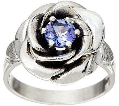 Or Paz Sterling Silver 0.45 Cttw. Tanzanite Rose Ring - J347086
