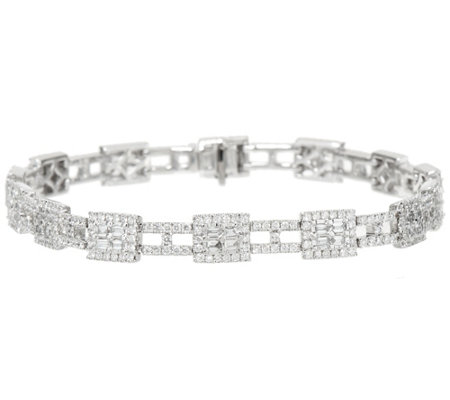 "White Diamond 8"" Tennis Bracelet, 14K 2.65 cttw by Affinity"