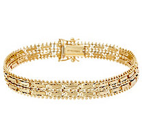 "Imperial Gold 6-3/4"" Mirror Bar Bracelet, 14K, 16.5g - J348386"