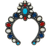 American West Gemstone Statement Sterling Silver Naja Enhancer - J350986