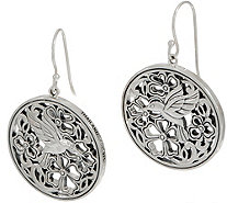 JAI Sterling Silver Garden Party Disk Earrings - J354086