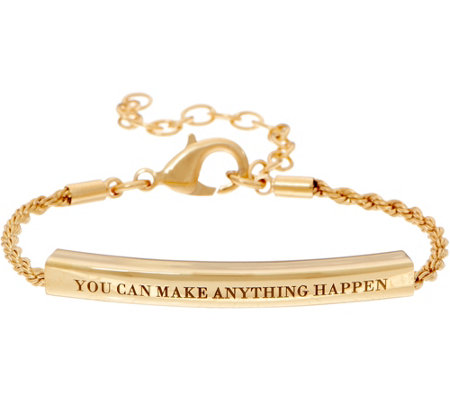 """As Is"" Stella Valle You Can Make Anything Happen Bracelet by Lori Greiner"