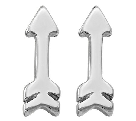 Sterling Polished Arrow Earrings by Silver Style