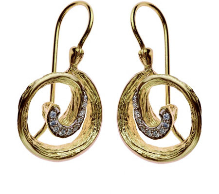 Adi Paz Diamond-Accent Swirl-Design Earrings, 1 4K Gold