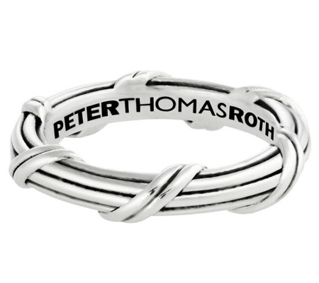 Peter Thomas Roth Sterling Ribbon & Reed Signature Band Ring