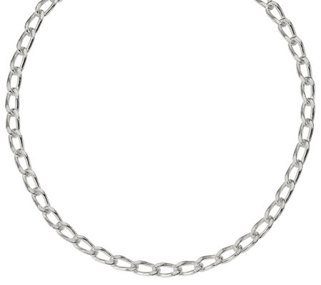 "Sterling Silver 18"" Diamond-Cut Curb Link Chain, 39.6g"