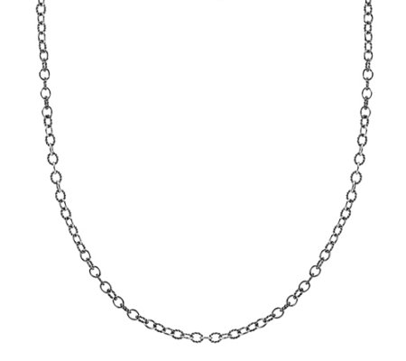 "Carolyn Pollack Sterling 24"" Textured Rope LinkNecklace"