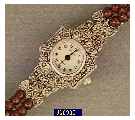 Gem Time Marcasite and Garnet Bead Expansion Watch