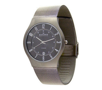 Skagen Men's Extra Large Stainless Steel Mesh Bracelet Watch - J104087