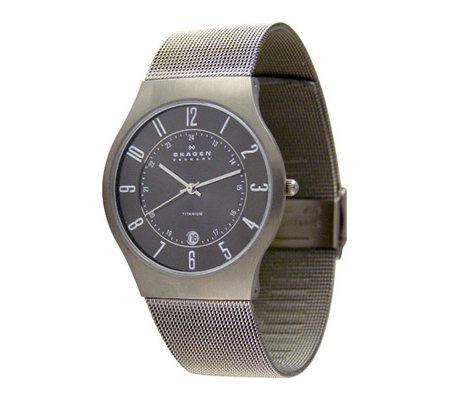 Skagen Men's Extra Large Stainless Steel Mesh Bracelet Watch