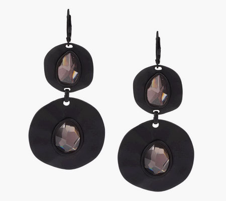 """As Is"" Wildlife by Heidi Klum Organic Disc Drop Earrings"