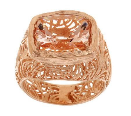 Adi Paz 3 60 Ct Morganite Ring 14k Gold Page 1 Qvc Com