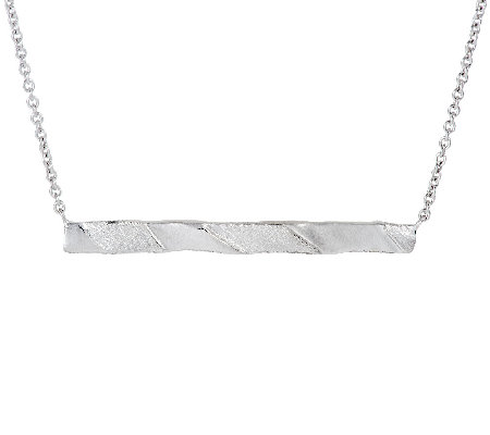 Mary Esses Sterling Wrapped Horizontal Bar Necklace