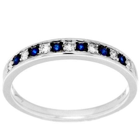 Michael Beaudry 1/10 cttw Diamond & .15ct Sapphire Ring, 14K Gold