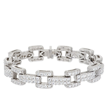 "Judith Ripka Sterling 6.95 ct tw Diamonique Link 6-3/4"" Bracelet"