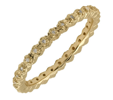 Simply Stacks Sterling Diamonds 18K Gold-Plated2.25mm Ring