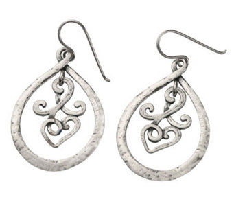 Or Paz Sterling Swirl Frontal Hoop Earrings - J301487