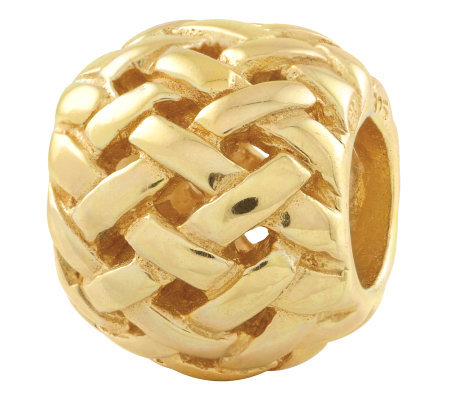 Prerogatives Gold-Plated Sterling Basket WeaveBali Bead