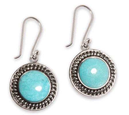 "Novica Artisan Crafted Sterling ""Andes Moon"" Drop Earrings"