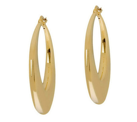 Arte d'Oro Round Graduated Hoop Earrings, 18K Gold