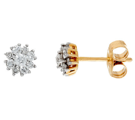 Diamond Stud Earrings, 14K Gold, 1/3 cttw, by Affinity
