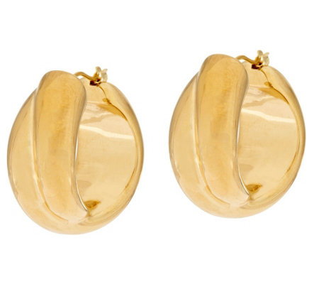 """As Is"" Oro Nuovo 1"" Double Twist Round Hoop Earrings, 14K"