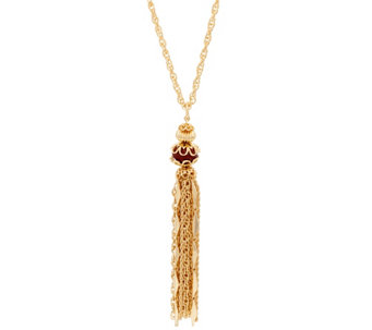 "C. Wonder 31-3/4"" Rope Chain Necklace with Tassel Station - J331287"