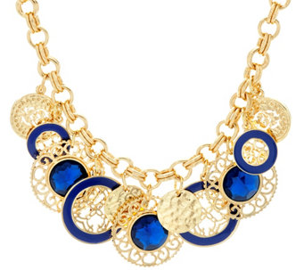 "C. Wonder 20 1/2"" Rolo Link Statement Necklace with Charm Stations - J331487"